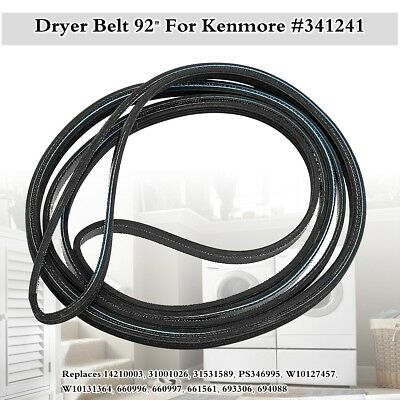 "92"" Dryer Belt for  Kenmore Maytag Whirlpool Amana AP2946843 PS346995 341241 NEW"