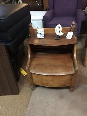 Antique Georgian bedside cabinet night stand mahogany 1800 commode