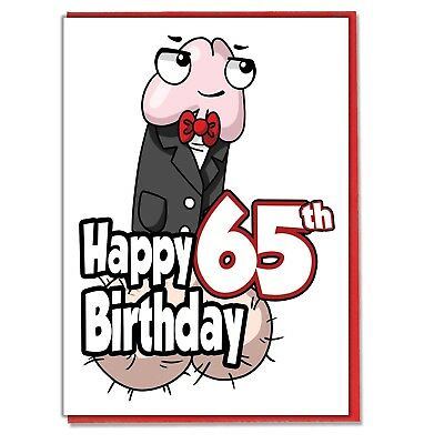 Funny Willy 65th Birthday Card
