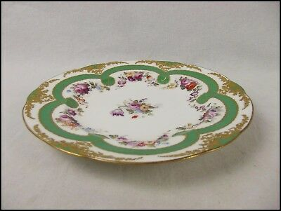 Exquisite Hand Painted Porcelain Plate, Sevres Style Late 1700s