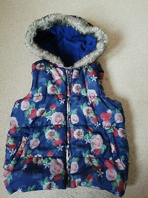 Girls Floral Gilet / Body Warmer Age 5-6 Years M&CO