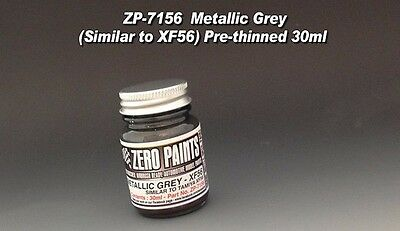 Zero Paints Metallic Grey Paint, #ZP-7156