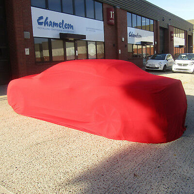 DELUXE Indoor Car Cover Red MEDIUM Super Soft breathable 130gsm fabric