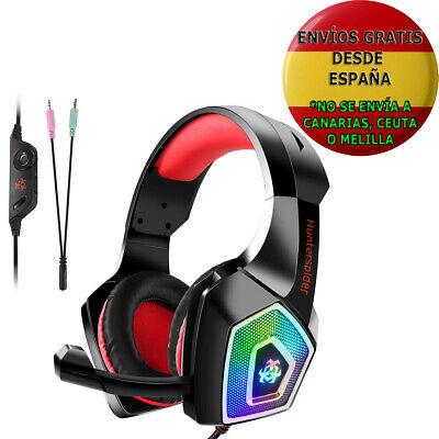 Auriculares Gaming Hunterspider Para Ps4 Pc Xbox One Switch Led Micrófono Nuevo