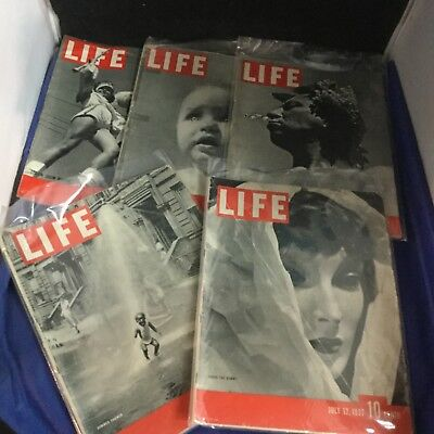 Life Magazine - Lot of 5 - 1937-38 - Antique - Rare - Collectible - Lot SQ2132