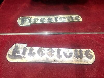 Firestone Adverting Print Block Letterpress Tyre Car Auto Automobile