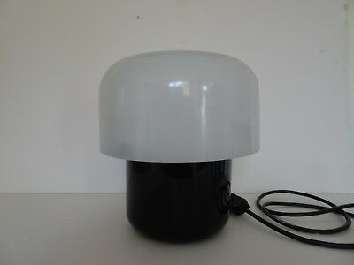 Harvey Guzzini Perspex Mushroom Table Lamp. Circa 1960's. Original. Marked.