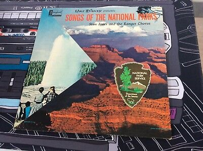 Walt Disney: Songs Of The National Parks 1960s RARE Childrens LP WDL 1000