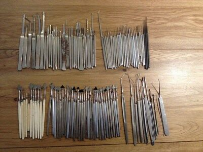 Vintage Surgical Instruments, Scalpels etc, 113 in total, may suit a model maker