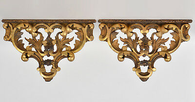 """Pair of Vintage Gilt Wall Brackets. Great looking 8"""" Long"""