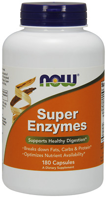 NOW Foods Super Enzymes Health Digestion Nutrient Availability 180 Caps 11/2020