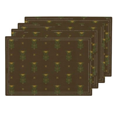 Cloth Placemats Edwardian Aesthetic Victorian Mission Stickley Art Set of 4