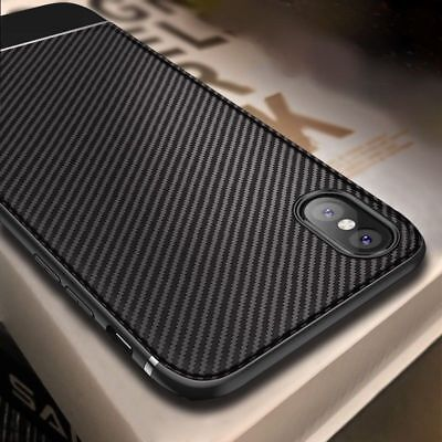 Luxury Shockproof Carbon Fibre Case Soft Cover For iPhone XS Max XR X 8 7 Plus