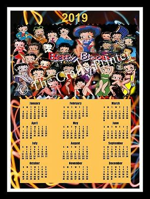 "2019 Calendar Magnet - Betty Boop Collage - Size 8""x10"""