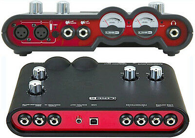 Line 6 Ux2 Toneport Pod Studio Audio Interface Sound Card Usb Bus Powered