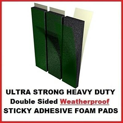 3 x Thick Foam Number Plate Fixer Pads Large Oversized Weather Proof Sticky Pads