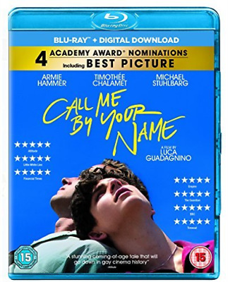 Call Me By Your Name (UK IMPORT) BLU-RAY NEW