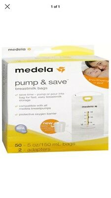 Medela Pump and Save Breast Milk Bags, 50 Count. Four boxes available.