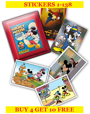 Panini Mickey Mouse Sticker Story Single Stickers 1-138 (2018) Buy 4 Get 10 Free