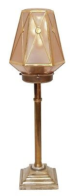 Very Beautiful Original Art Deco Art Nouveau Table Lamp Brass Lamp Berlin