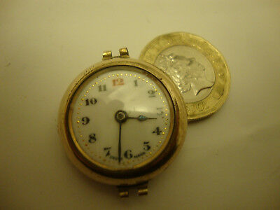 Little old vintage antique rolled gold art deco 1900 1930's trench watch broken