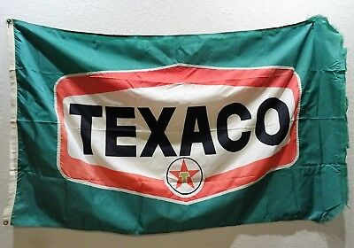 Vintage Texaco Flag Sign Banner Car Shop Man Cave Texaco Collector Frayed Edge