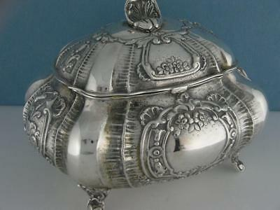 Fabulous 800 Silver JEWELRY BOX ornate bombay style w/ floral & shell patterns
