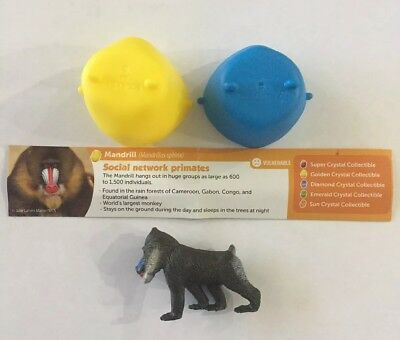 BRAND NEW Yowie MANDRILL Series 4 US Primate Monkey Surprise Egg Mini Figure