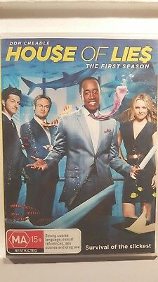House Of Lies : Season 1 [ 2 DVD Set ] Region 4, LIKE NEW, FREE Next Day Post