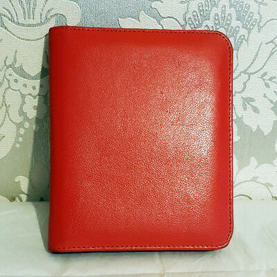 Vintage Real Leather Organiser, Red Colour, Document Holder