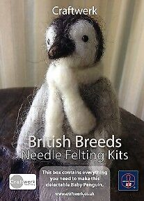 Baby Penguin Needle Felting Kit by Craftwerk. A Fantastic Gift For Christmas!