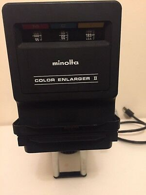 MINOLTA COLOUR ENLARGER ii Very Rare To Get Your Hand On !!!