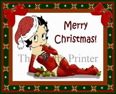 CHRISTMAS MAGNET - BETTY BOOP - Merry Christmas!
