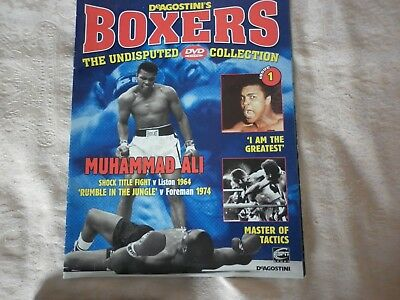 BOXERS DVD COLLECTION ISSUE 1 MUHAMMAD ALI   Liston Foreman  Magazine and DVD