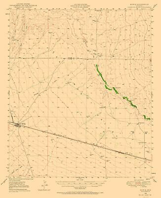 BOWIE USGS TOPOGRAPHIC Map Arizona AZ Topo 7 5 Minute