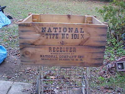 National Type Nc101X Shortwave Receiver Wooden Shiipping Crate, 1936-39