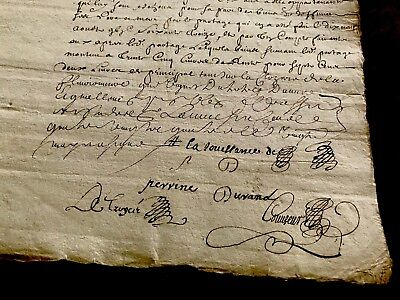 Autographed Manuscript from 1600s. MULTIPLE SIGNATURES
