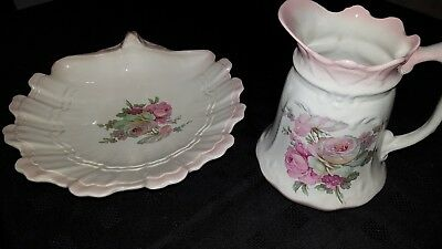 Staffordshire Jug with James Kent stamp  and matching Blakeney Shell Dish