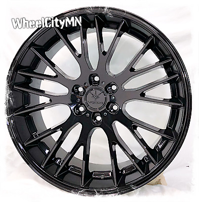 20 Inch Gloss Black Chrome Insert Vct V64 Wheels Fits Chevy