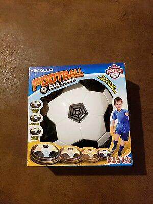 Kid Air Power Floating Soccer Glide Football Flash LED Disc Ball Children Toy