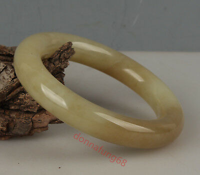 Chinese Exquisite Hand-carved natural Hetian jade bracelet