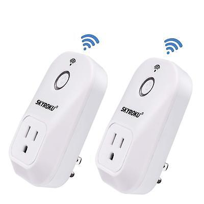 WiFi Smart Plug, SKYROKU 2 Pack SM-PW701U Wi-Fi Plug No Hub Required, Works with