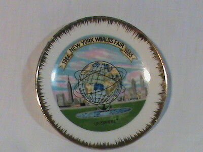 Vintage New York Worlds Fair 1964-1965 Unisphere Plate