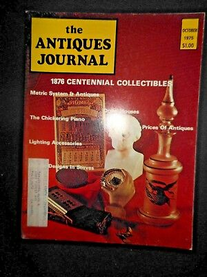 Antiques Journal 1975 BiCentennial Collectibles Chickering Piano Stove Designs
