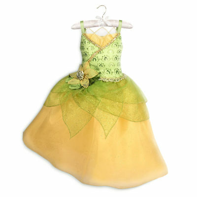 NWT Disney store Tiana Costume Dress Girls The Princess and The Frog many Sizes