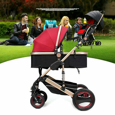 Luxury Baby Stroller Newborn Carriage Infant Travel Car Foldable Pram Pushchair