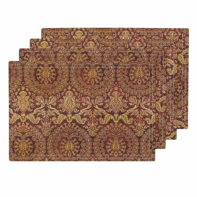 Cloth Placemats Damask Tapestry Pomegranate Paisley Turkish Persian Set of 4