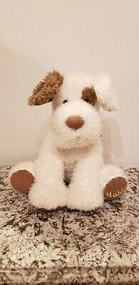 "Barnes & Noble Puppy Dog Terrier Brown/White Corduroy 13"" Plush Stuffed Animal"