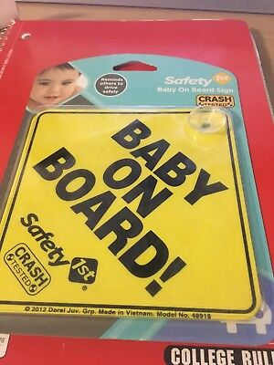 New Safety 1st Baby On Board Sign