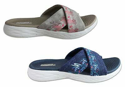 New Skechers Womens On The Go 600 Monarch Cushioned Slide Sandals